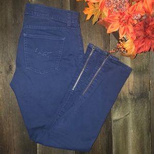 Gap 1969 Skinny Jeans Zipper Leg